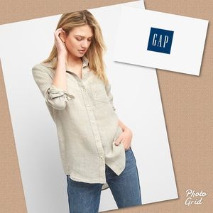 New GAP boyfriend linen shirt XL